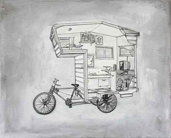 Inside X-Ray View of the Bike Camper