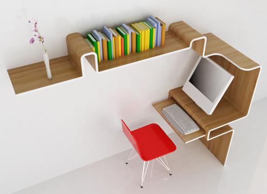 Small Beautifully Designed Mini-Desk for Tiny Houses