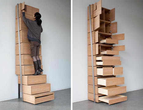Easy-to-access storage to use ALL your wall space