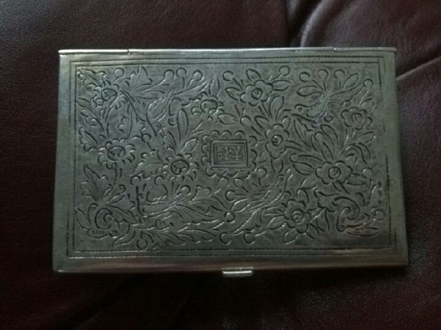 Sterling Silver Business Card Case Back