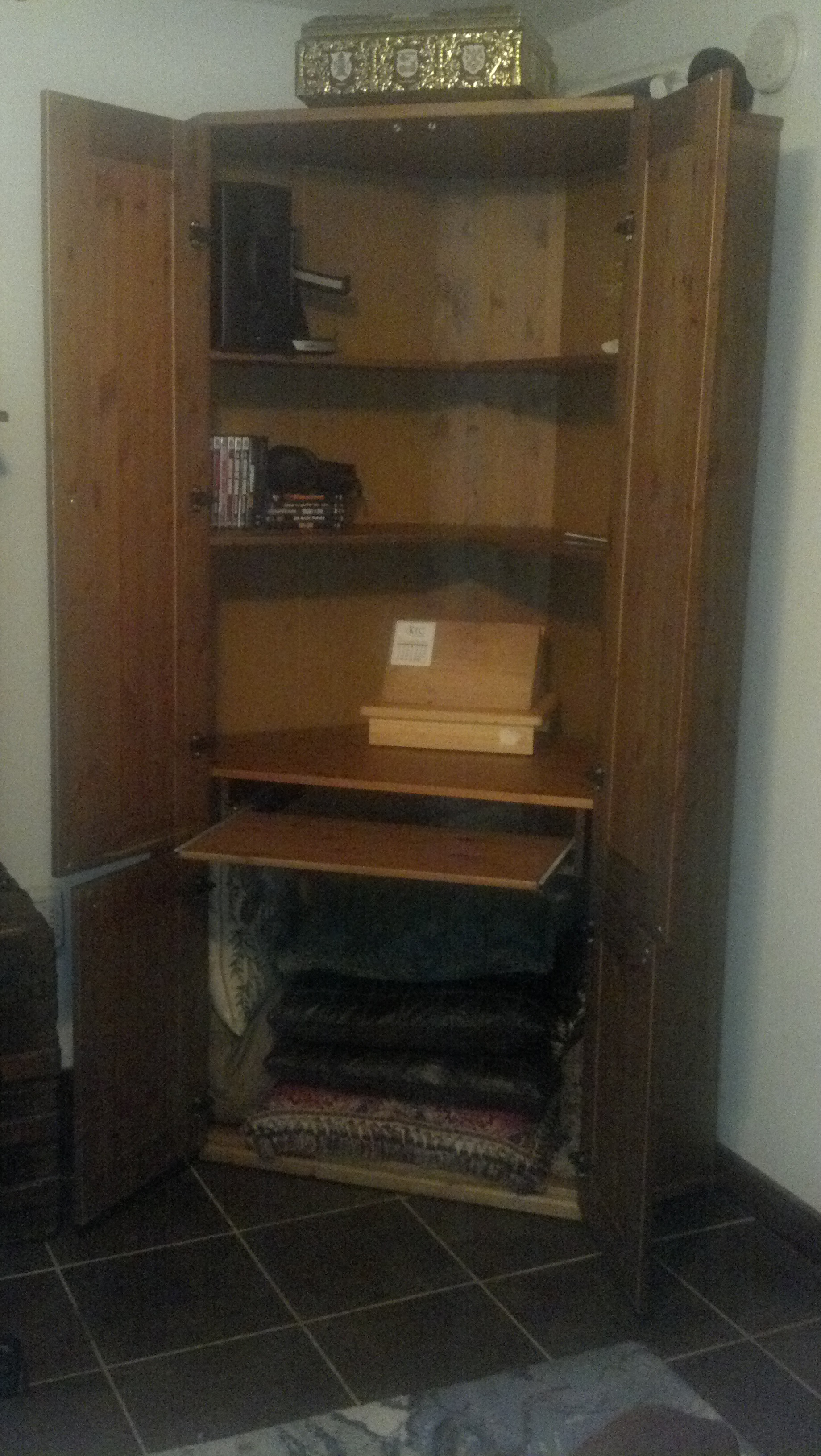 The interior of the great furniture find from Goodwill.