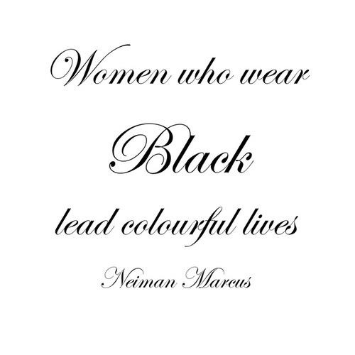 Black makes a simple wardrobe easy and preferable! Here's why...