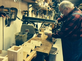 "Pops in the ""Pops Shop"" - making Carpenter Bee Boxes"
