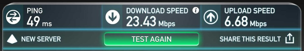 Mobile Internet Speed on my phone.
