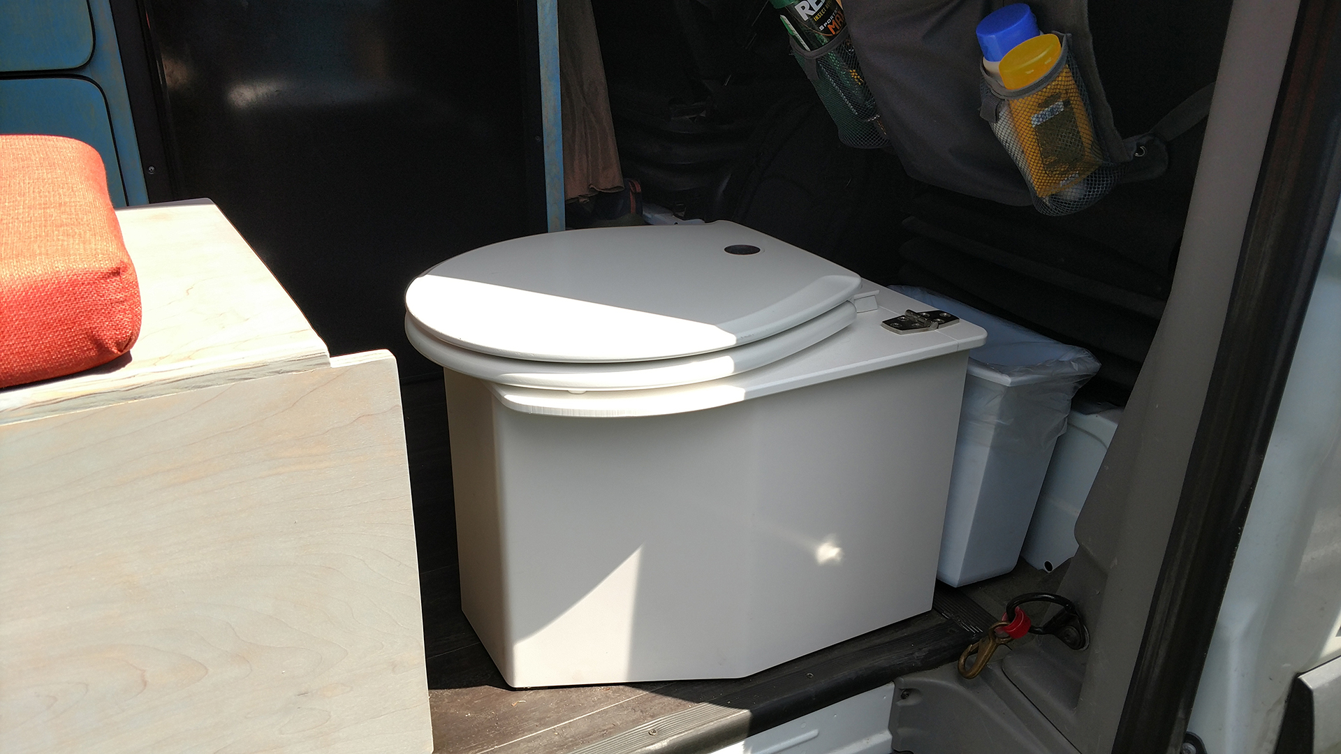 Composting Toilet in Van