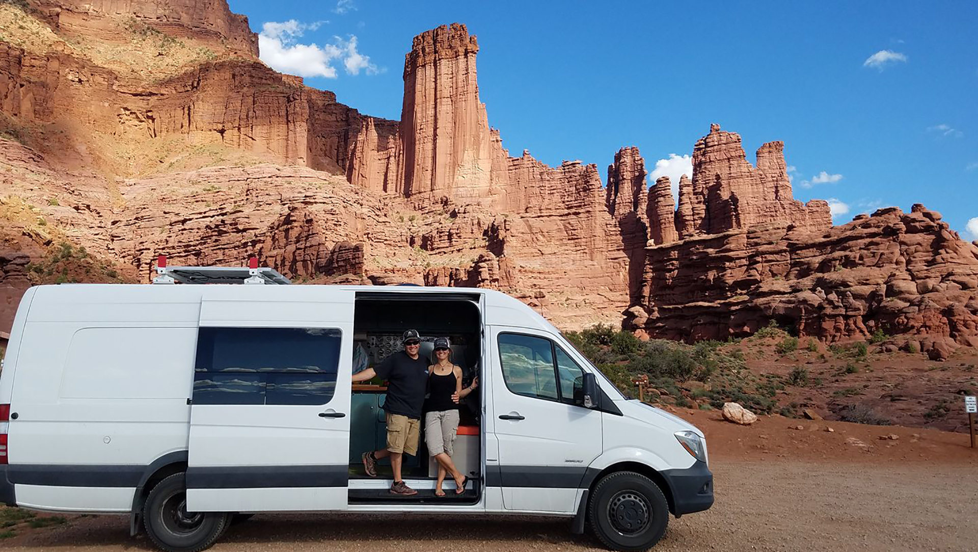 Danny and Darlene in Utah #vanlife #vanning