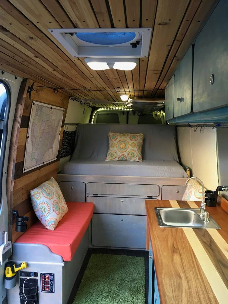 The Living Area of the Van