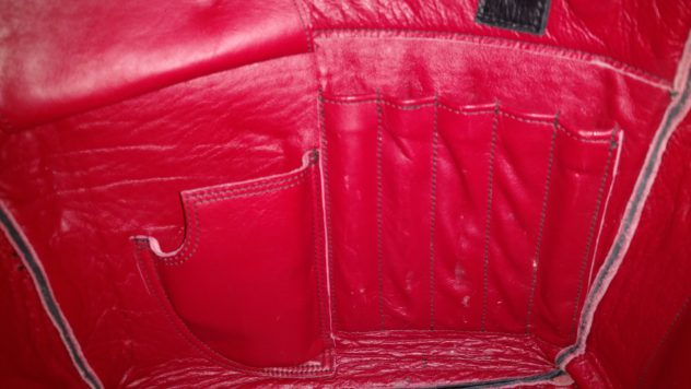 Holster and Custom Pen Pockets in a Purse