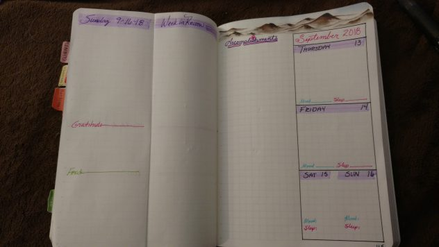 Bullet Journal Daily Folding Dutch Door Layout-2