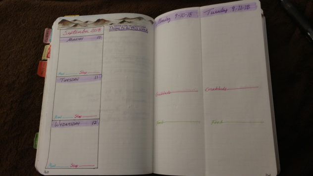 Bullet Journal Daily Folding Dutch Door Layout