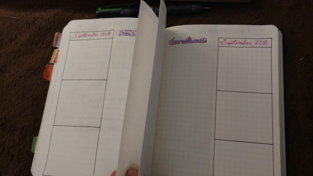 Bullet Journal Weekly Folding Dutch Door Layout-3