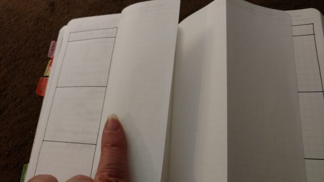 Bullet Journal Weekly Folding Dutch Door Layout