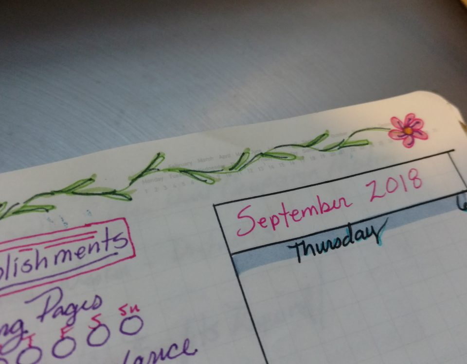 Doodles on top of Weekly BuJo Pages